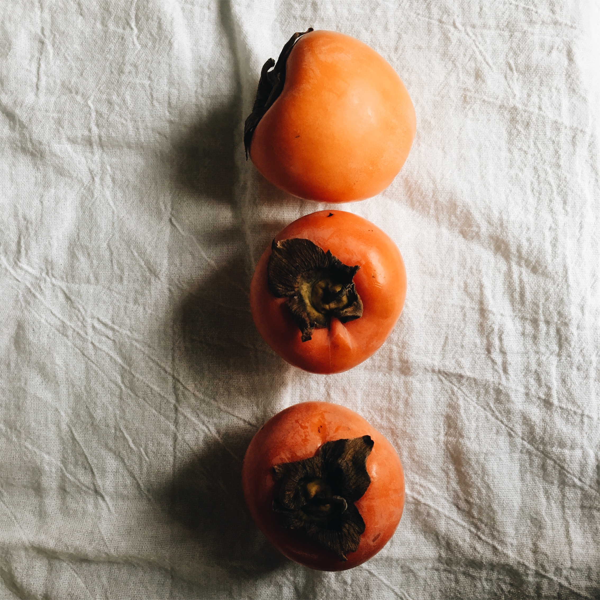 These chocolate persimmon are seasonally available Nov-Dec