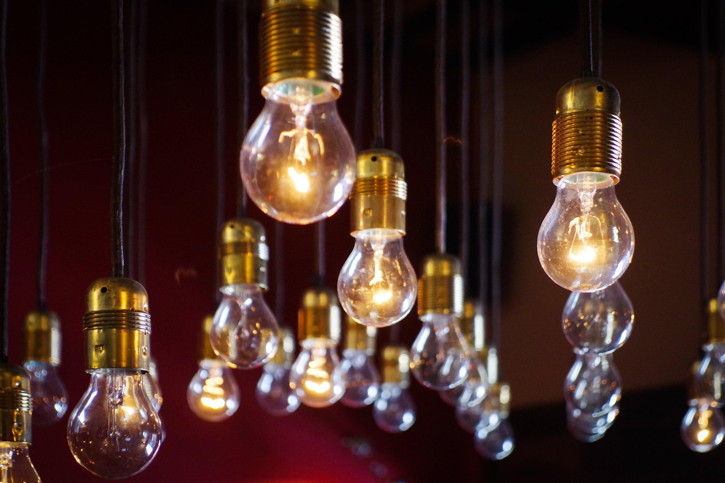 Lightbulbs;  www.unsplash.com