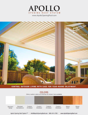 Apollo OpenINg Roof System Palette