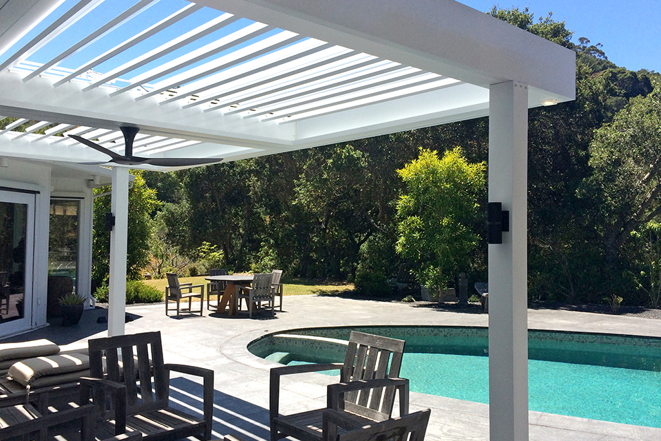 residential pool side pergola