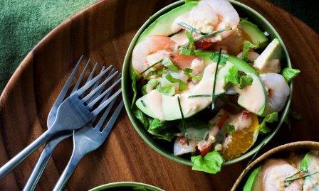 Avocado, Prawn & Orange Salad