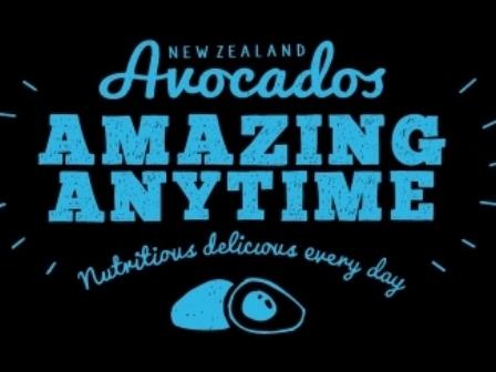 Black Background NZ Avocado