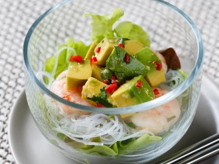 Avocado Noodle salad