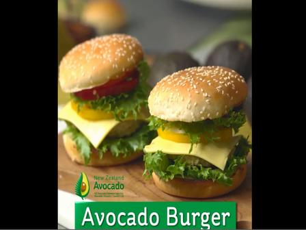 Avocado burger video