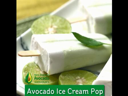 Avocado ice cream pop video