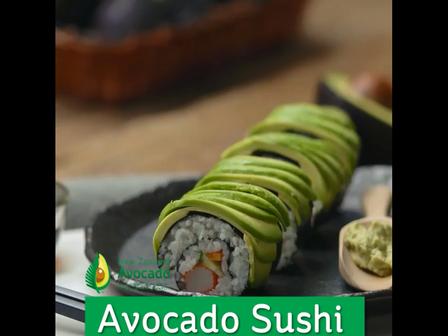 avocado sushi video