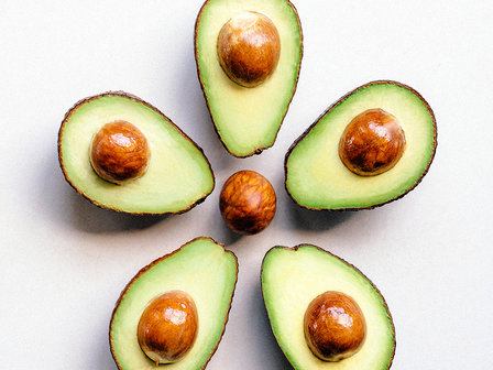 avocados in circle image