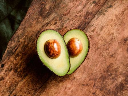 avocado halves portrait