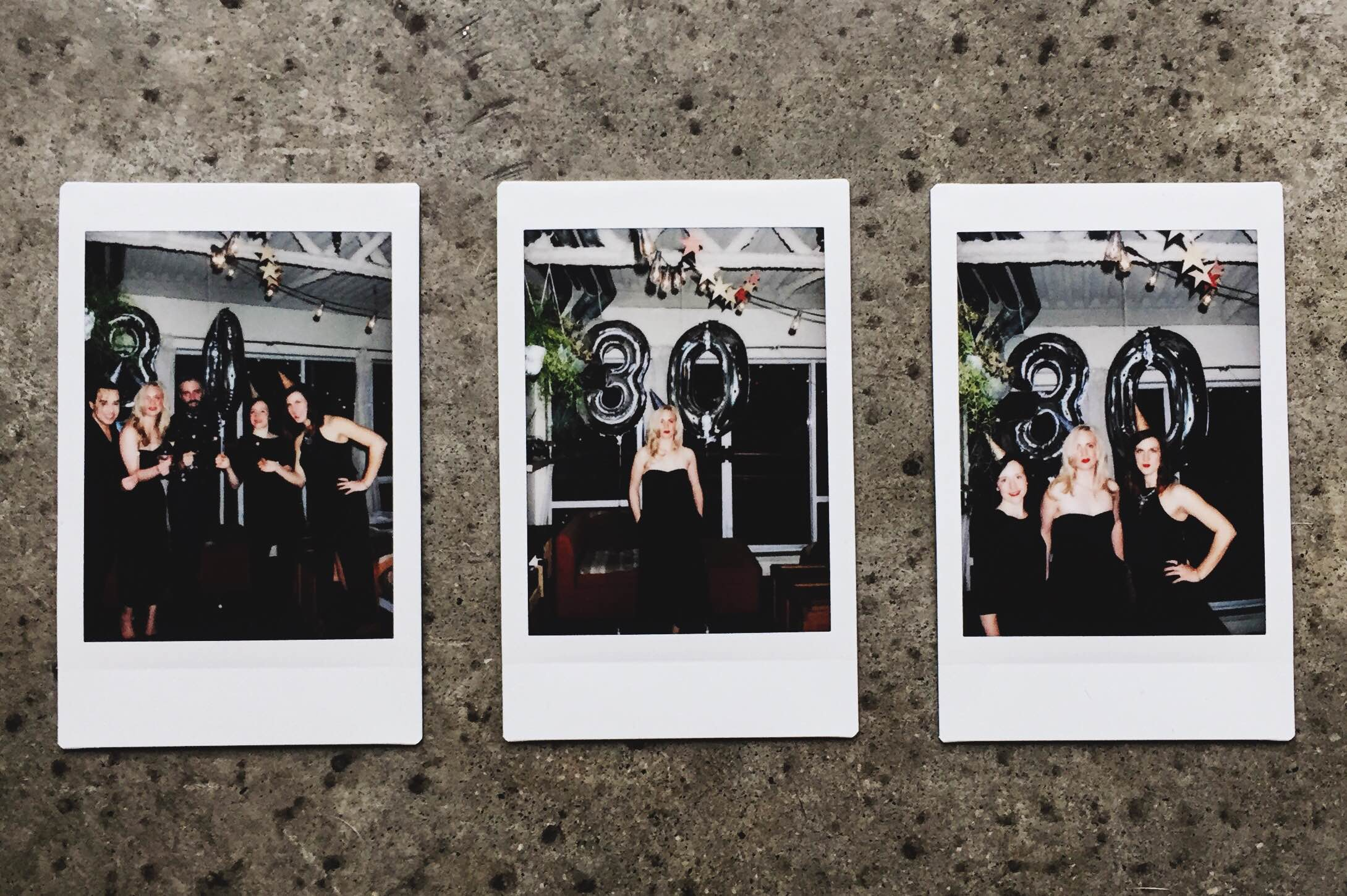 we really know how to kill it with the dark night polaroid shots