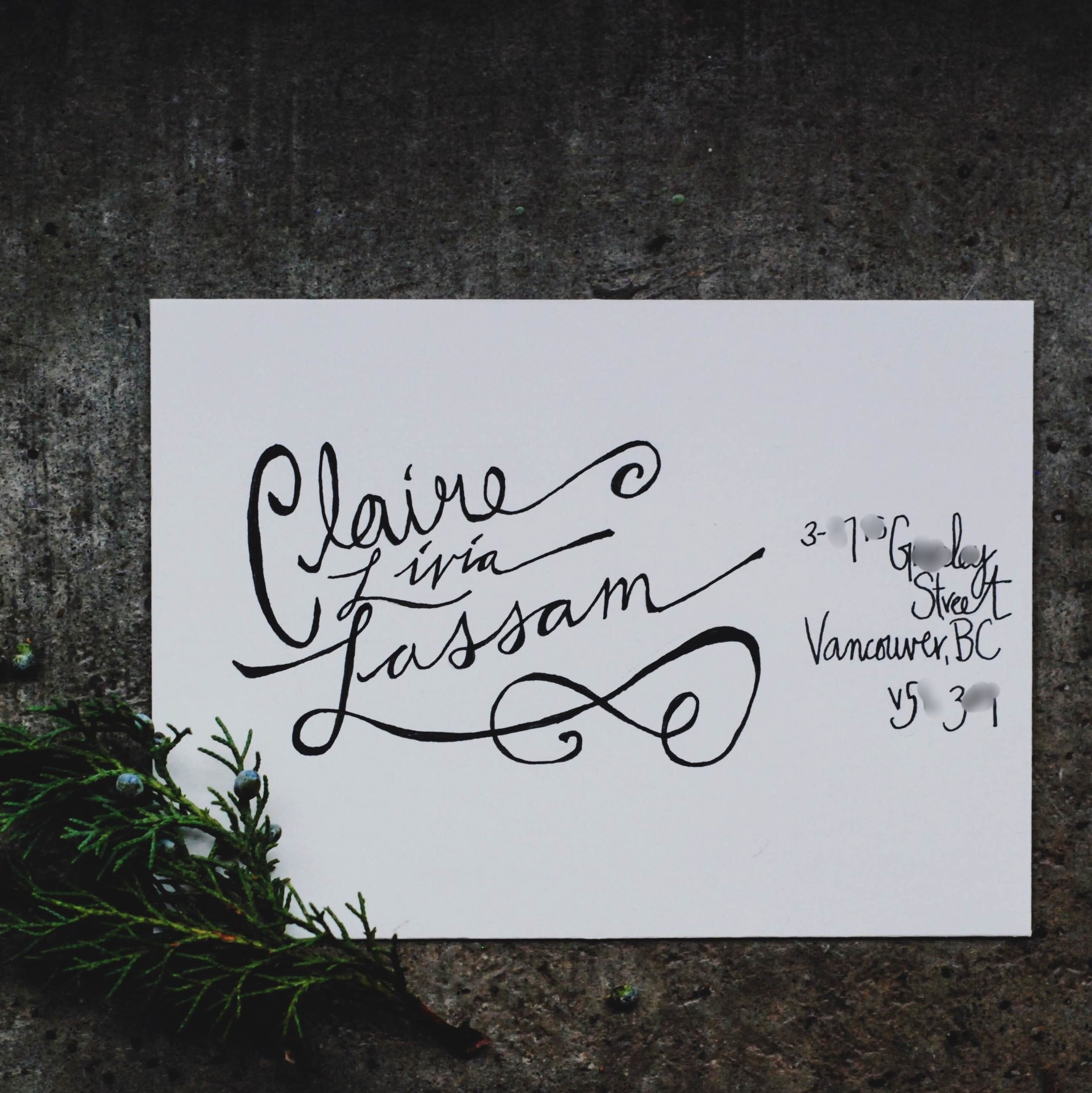 Monthly Mail Club - November 2016  - hand lettering