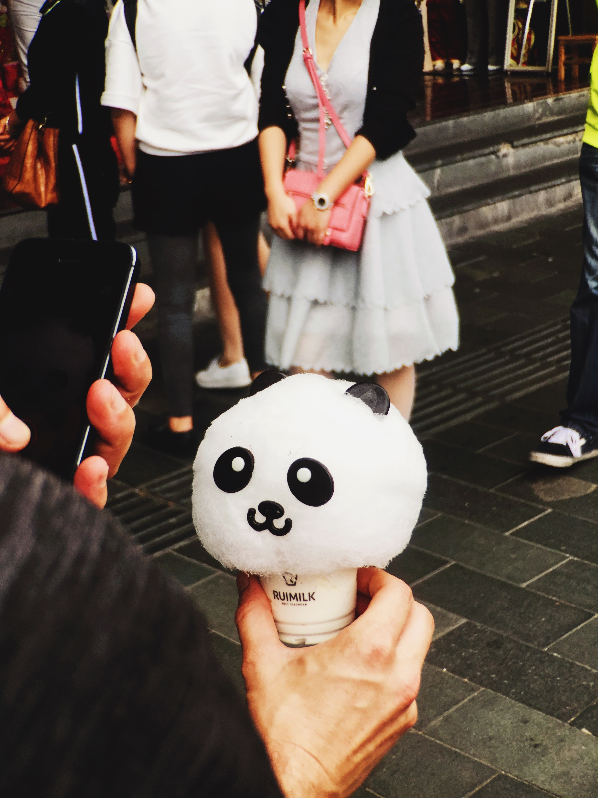 rumimilk panda icecream, snapchatting, and an epic outfit.