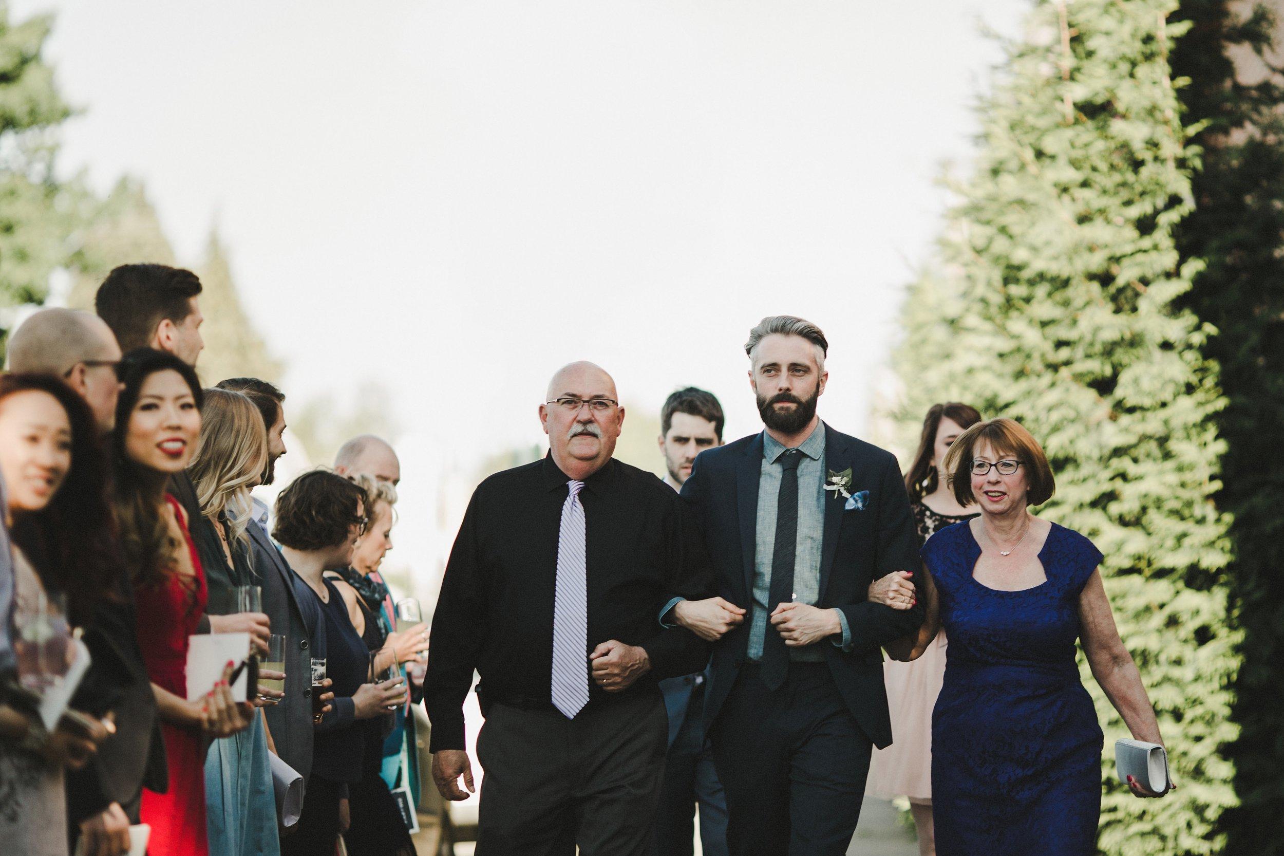 HOWE ABOUT FOREVA - Vancouver urban woodshop wedding by Shari + Mike photographers - alternative ceremony