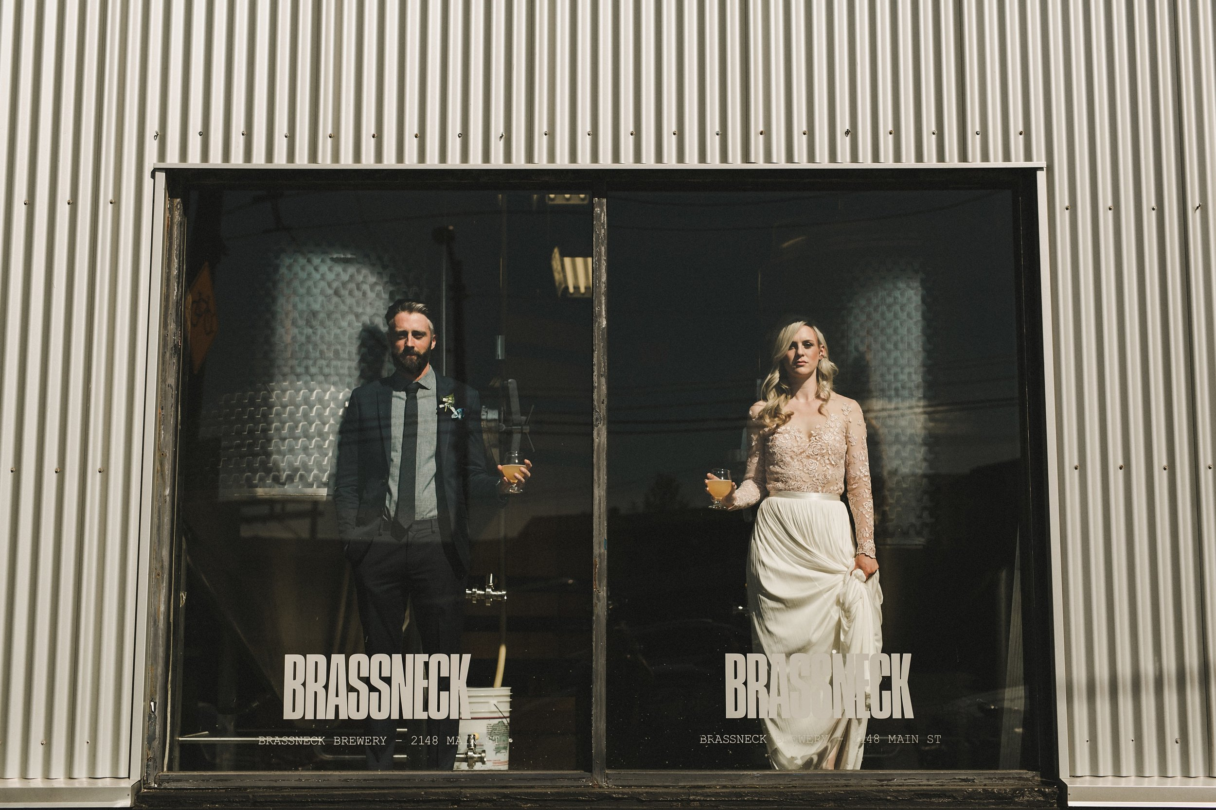 HOWE ABOUT FOREVA - Vancouver urban woodshop wedding by Shari + Mike photographers - Brassneck Brewery
