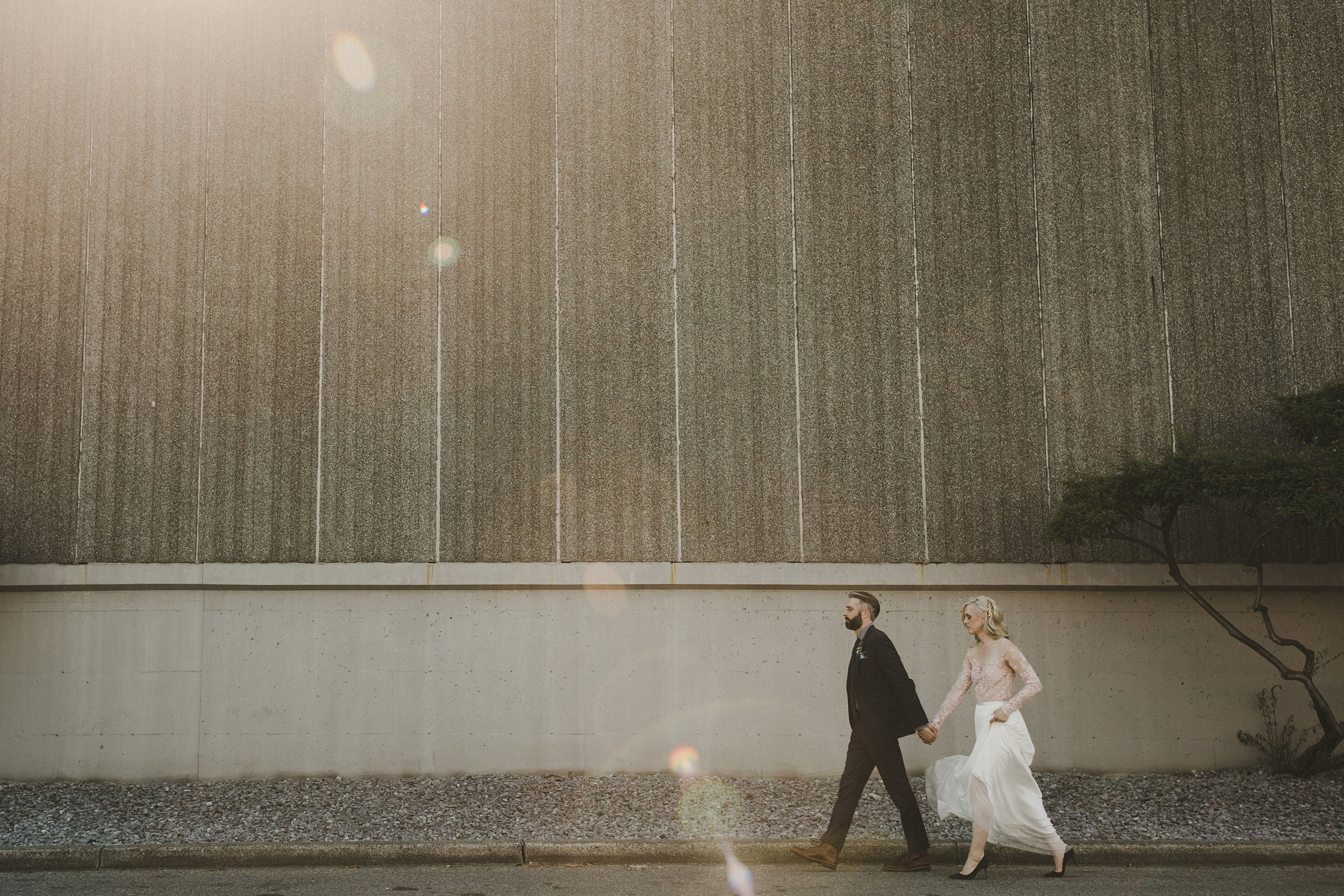 HOWE ABOUT FOREVA - Vancouver urban woodshop wedding by Shari + Mike photographers - bride and groom