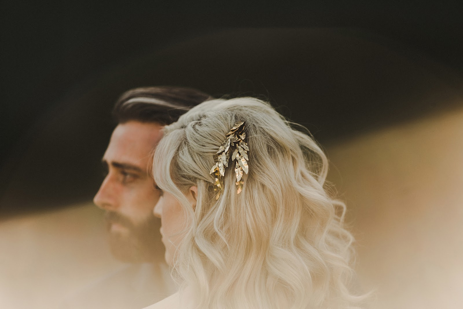 HOWE ABOUT FOREVA - Vancouver urban woodshop wedding by Shari + Mike photographers - bride and groom, Jennifer Behr hairpiece