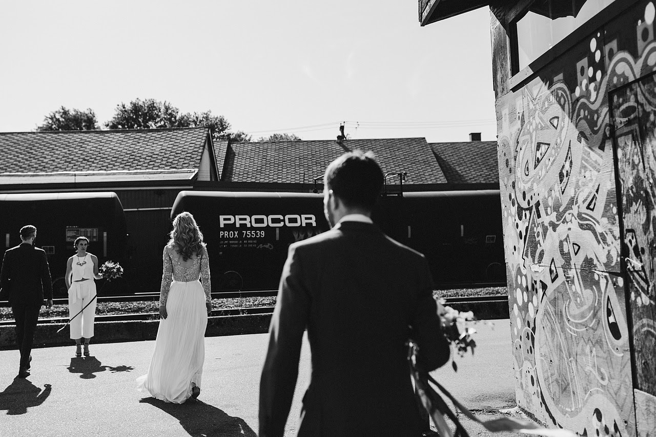 HOWE ABOUT FOREVA - Vancouver urban woodshop wedding by Shari + Mike photographers -