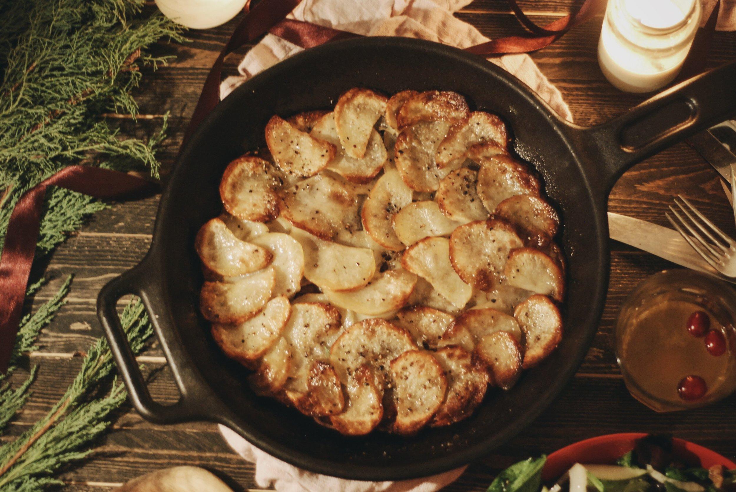 A Festive Friendship Feast for the holidays- potatoes anna
