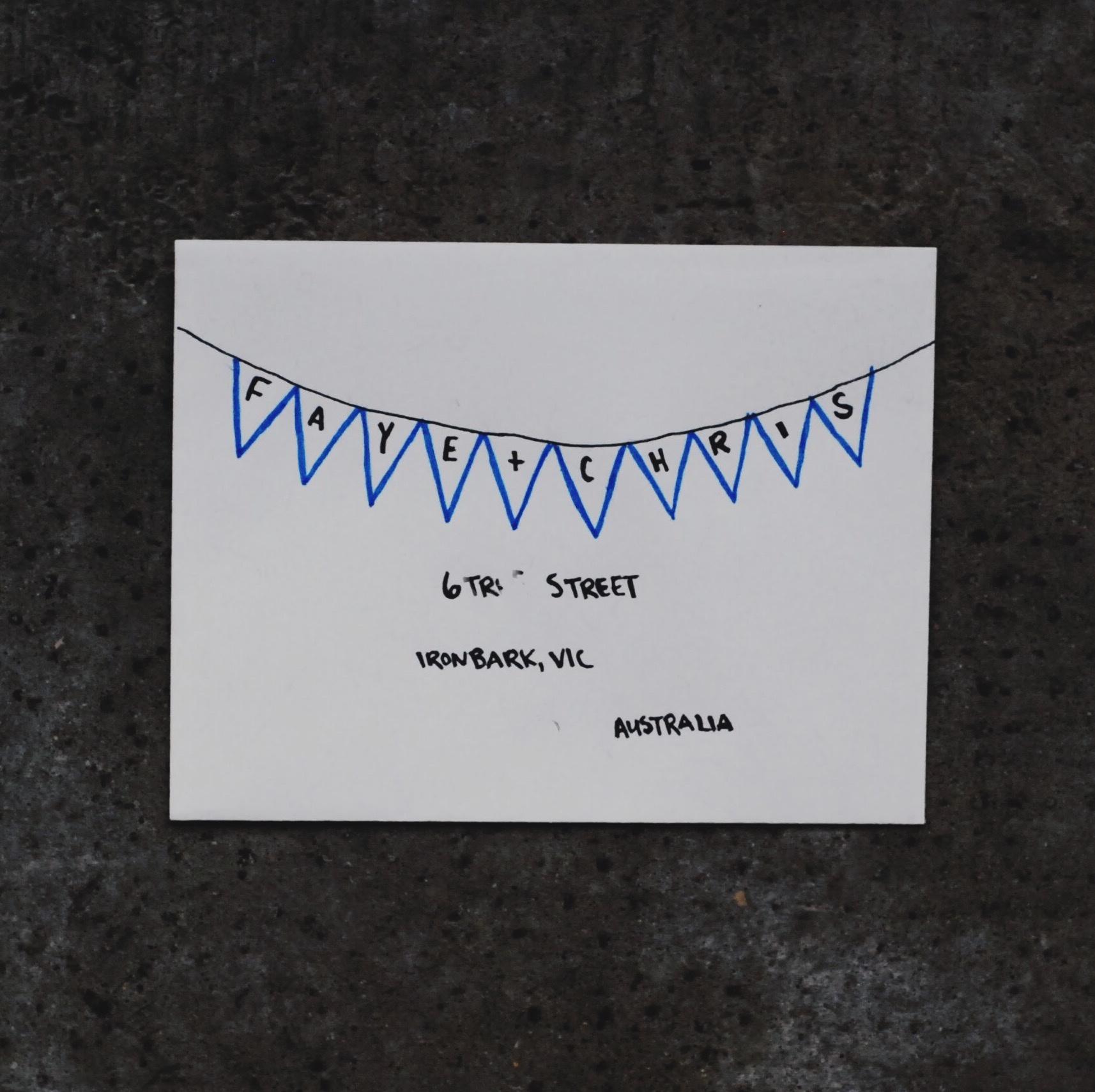 January 2017 Mail Club on livingforeva.com - garland lettering for wedding