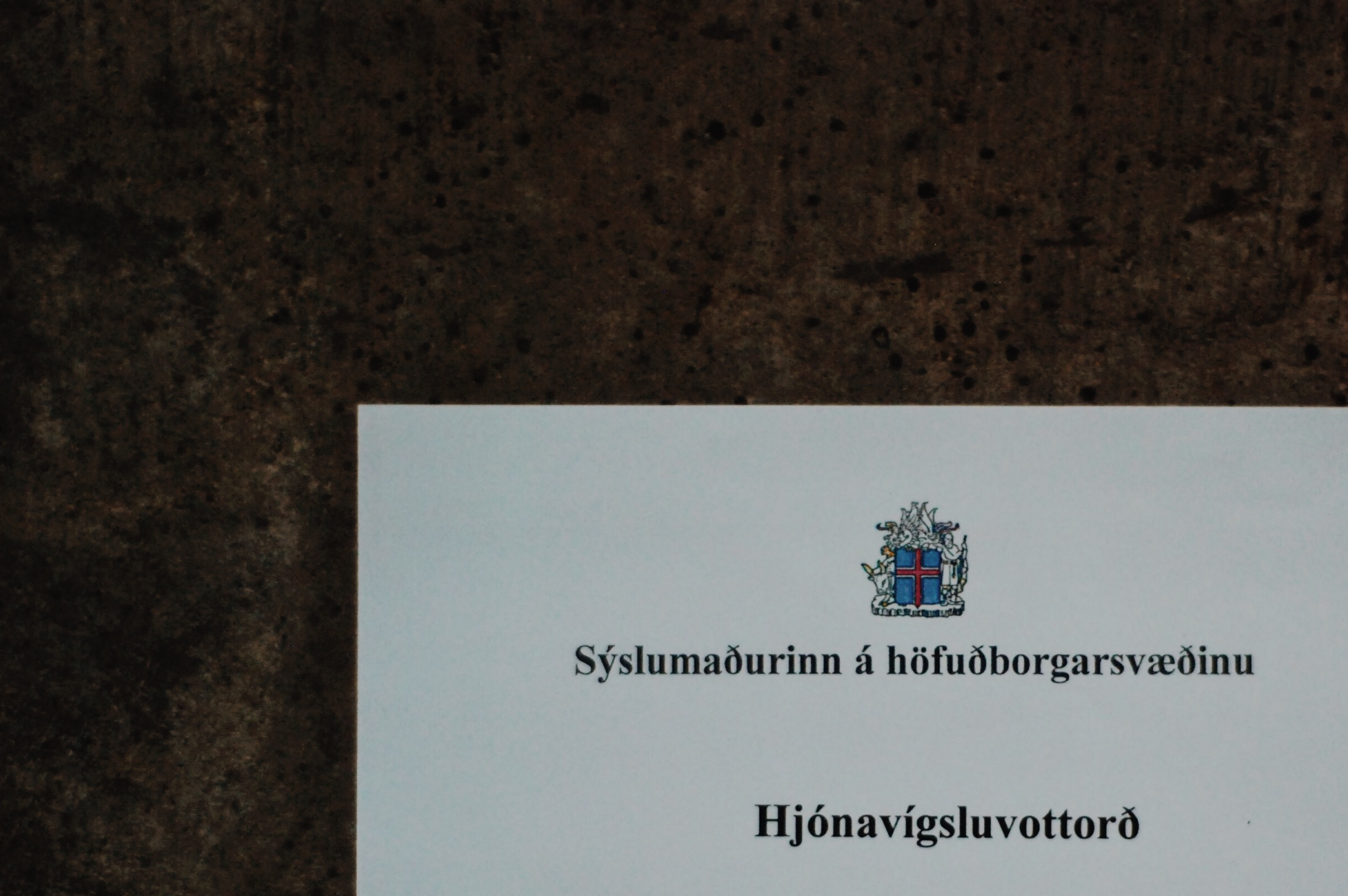 our icelandic marriage license (as photographed by me)
