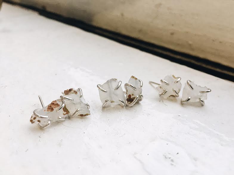 Transform your memories into jewelry  - handmade earrings by Foe & Dear - photo by Foe & Dear