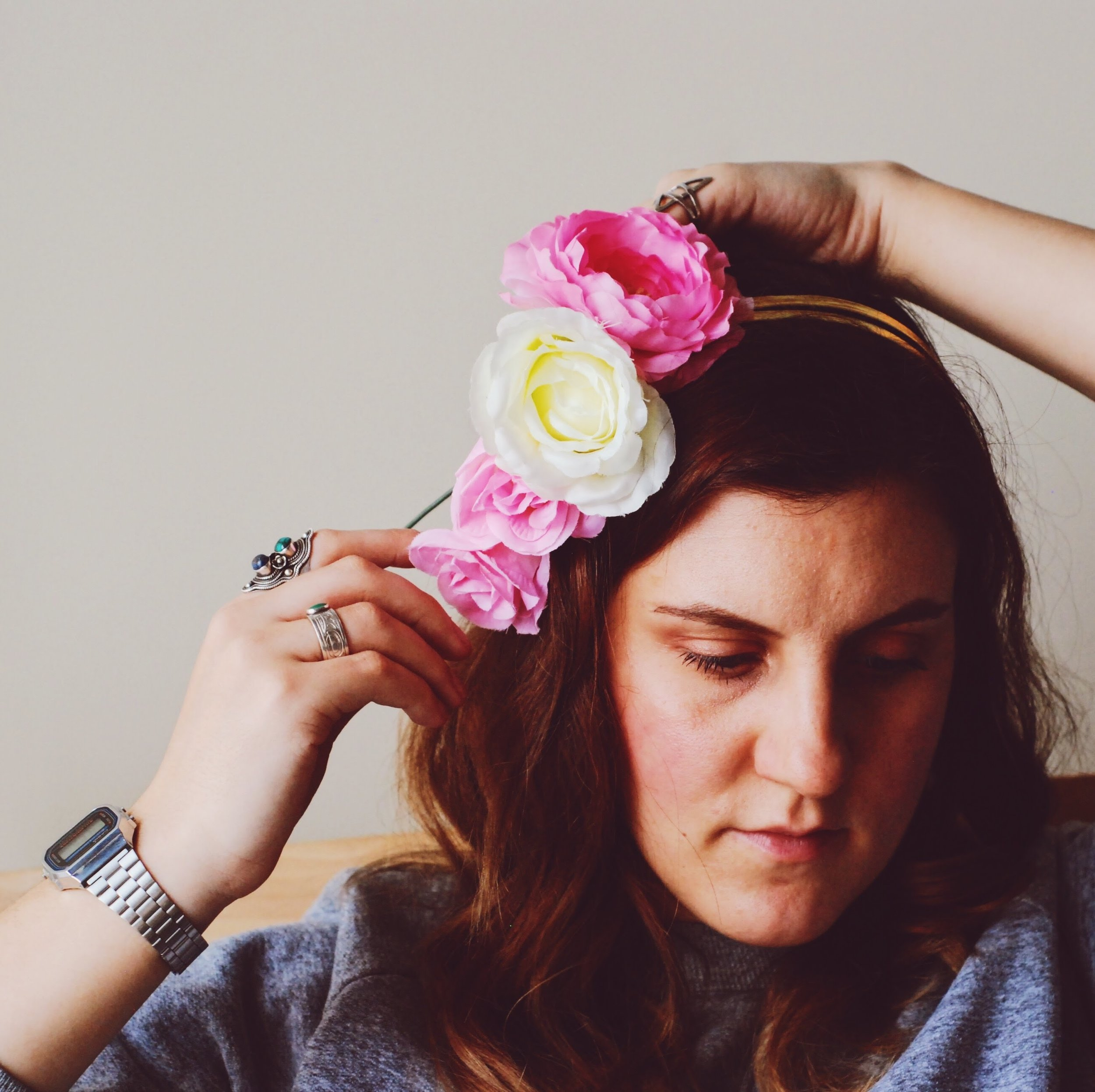 Gaudy AF beaded and sparkling flower crowns