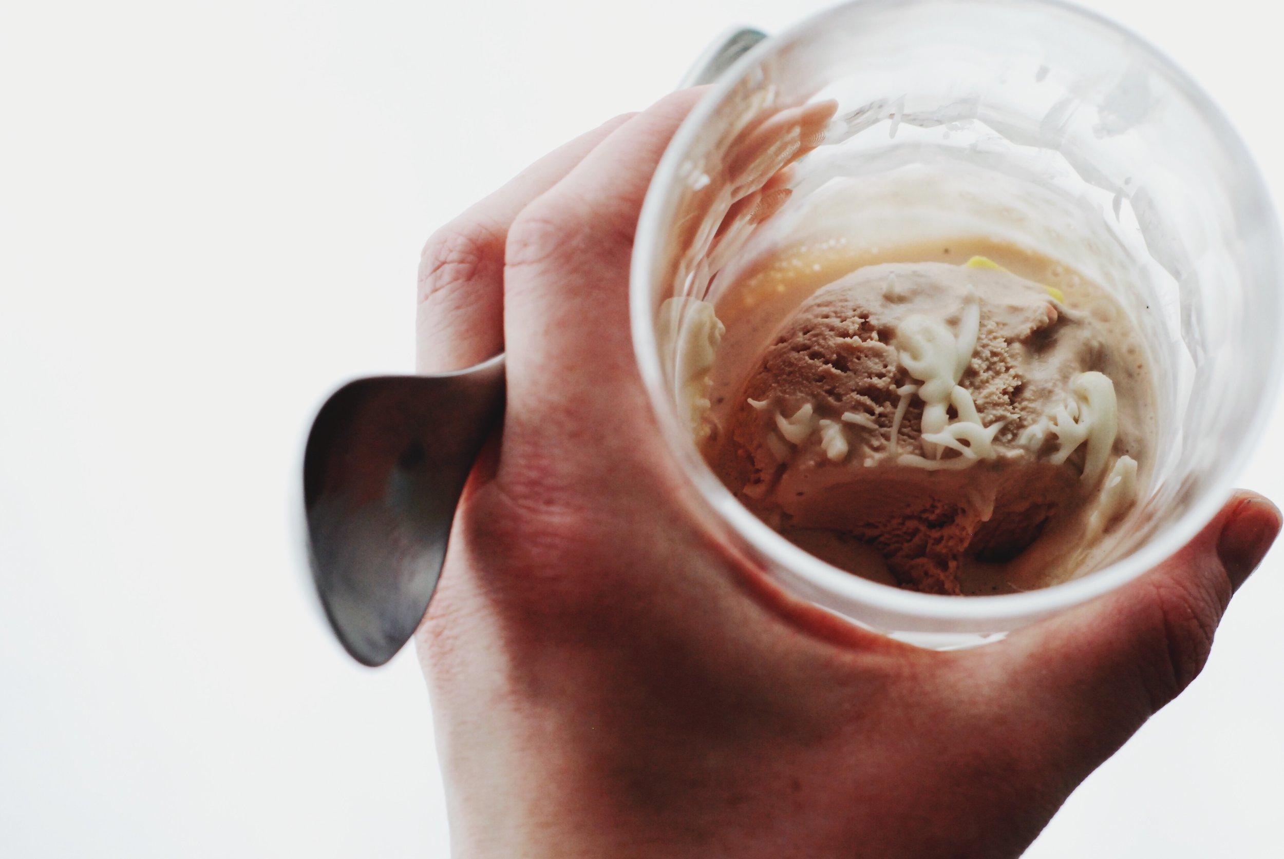 St. Patrick's Day Irish Cream ice cream from Earnest + authentic Irish whiskey glaze