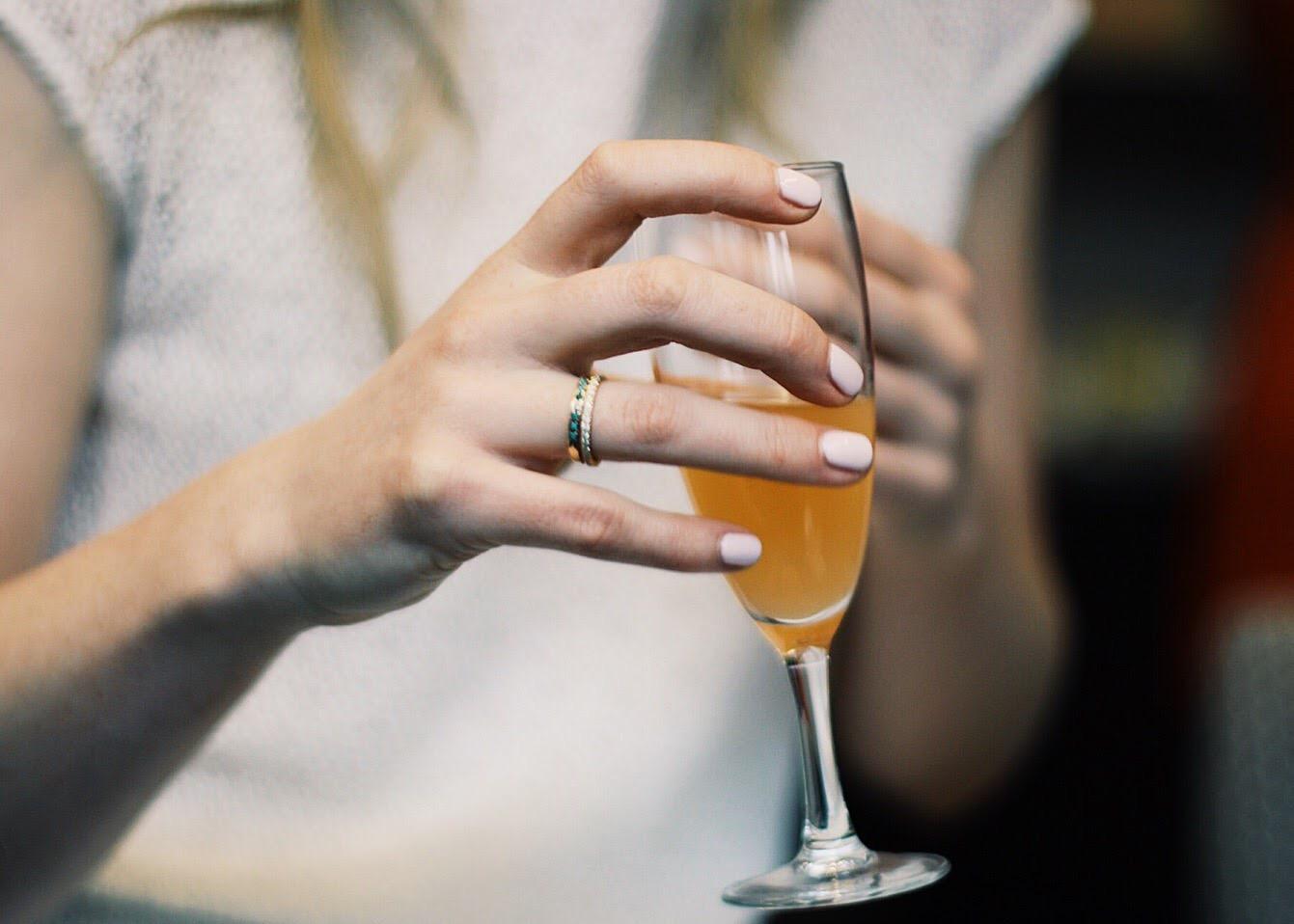 My Feminist Engagement Ring, Tiffany's diamond band, Mociun antique diamond and turquoise band Photo by Jenny Lee Photographs