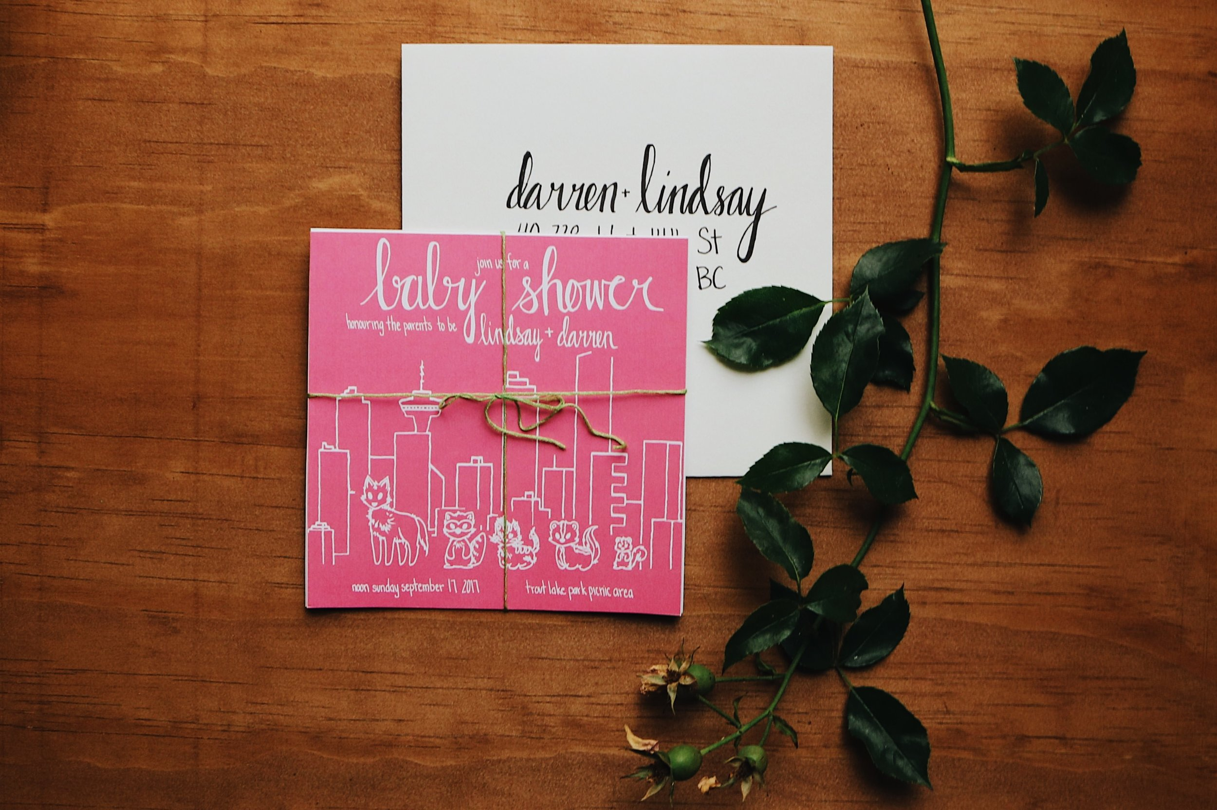 The Darlin Baby Shower Invites