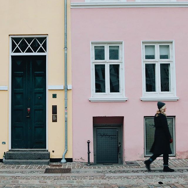 #tbt to a more innocent time when my interest in architecture was finding colourful walls to walk in front of - before I knew about noise reduction coefficients in ceiling tiles + lumens in lights + the grades of door handles. . . . . . . . . #abmtravelbug #neverstopexploring #copenhagen #europetravel #denmark #abmlifeiscolorful #dscolor #beautiful_places #ourplanet #lpfanphoto