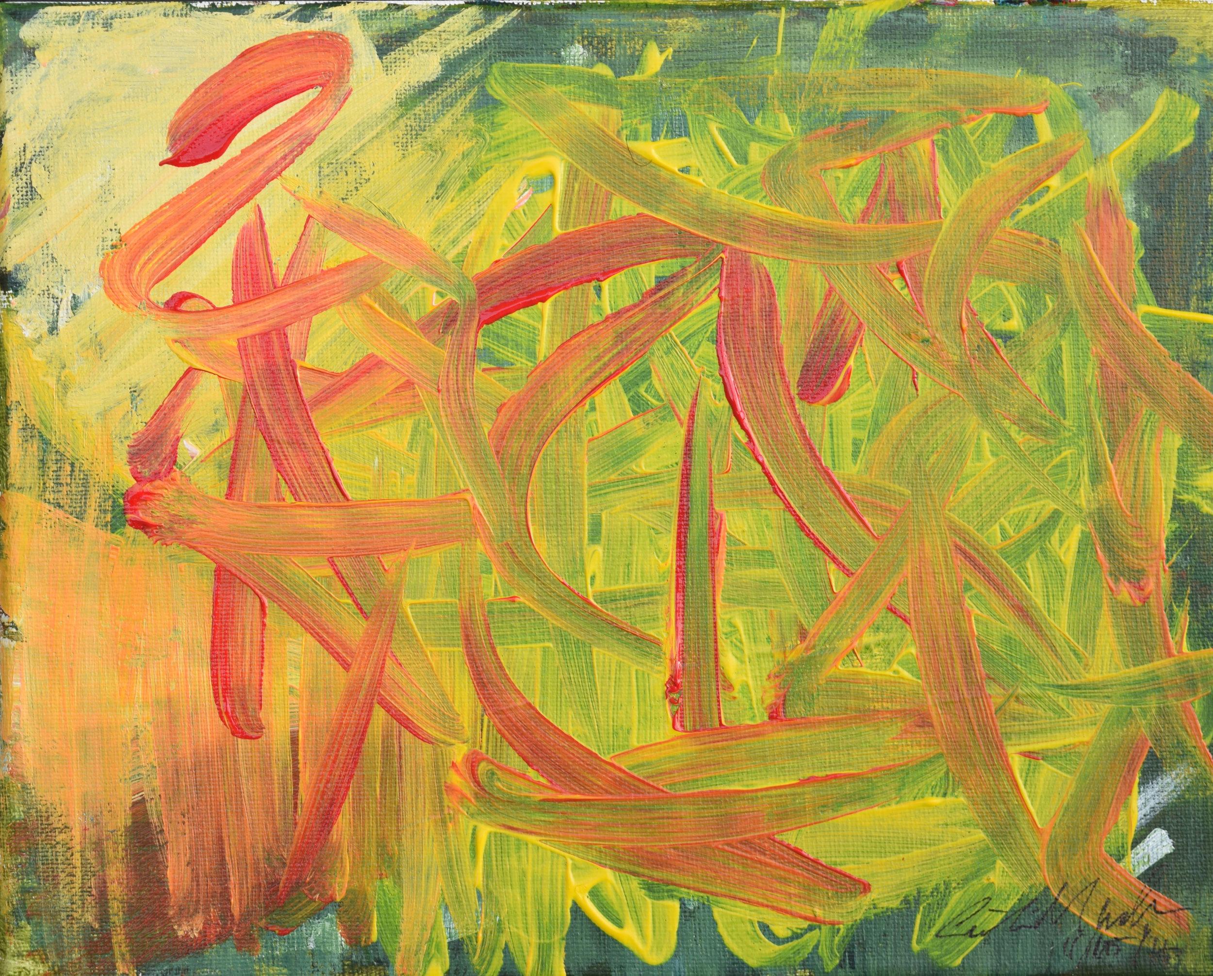 """""""WORRY"""" 4x4 Acrylic on Canvas,  $24"""