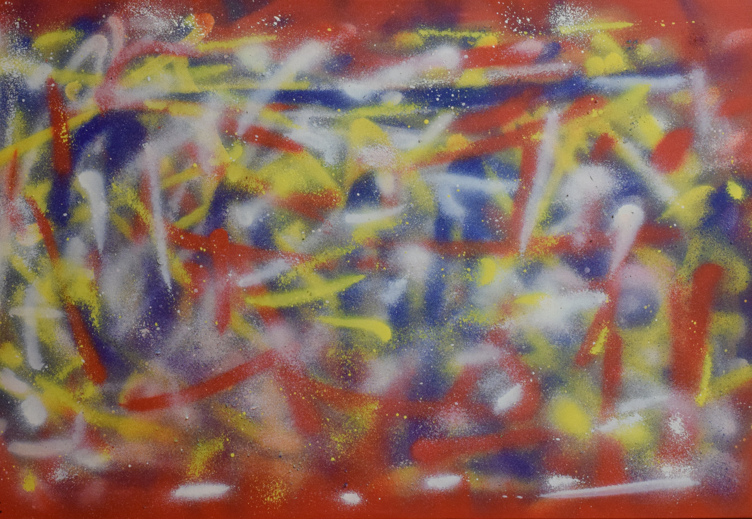 """""""BEAUTY IN COLOR"""" Spray paint on Canvas, 24x36, $180"""