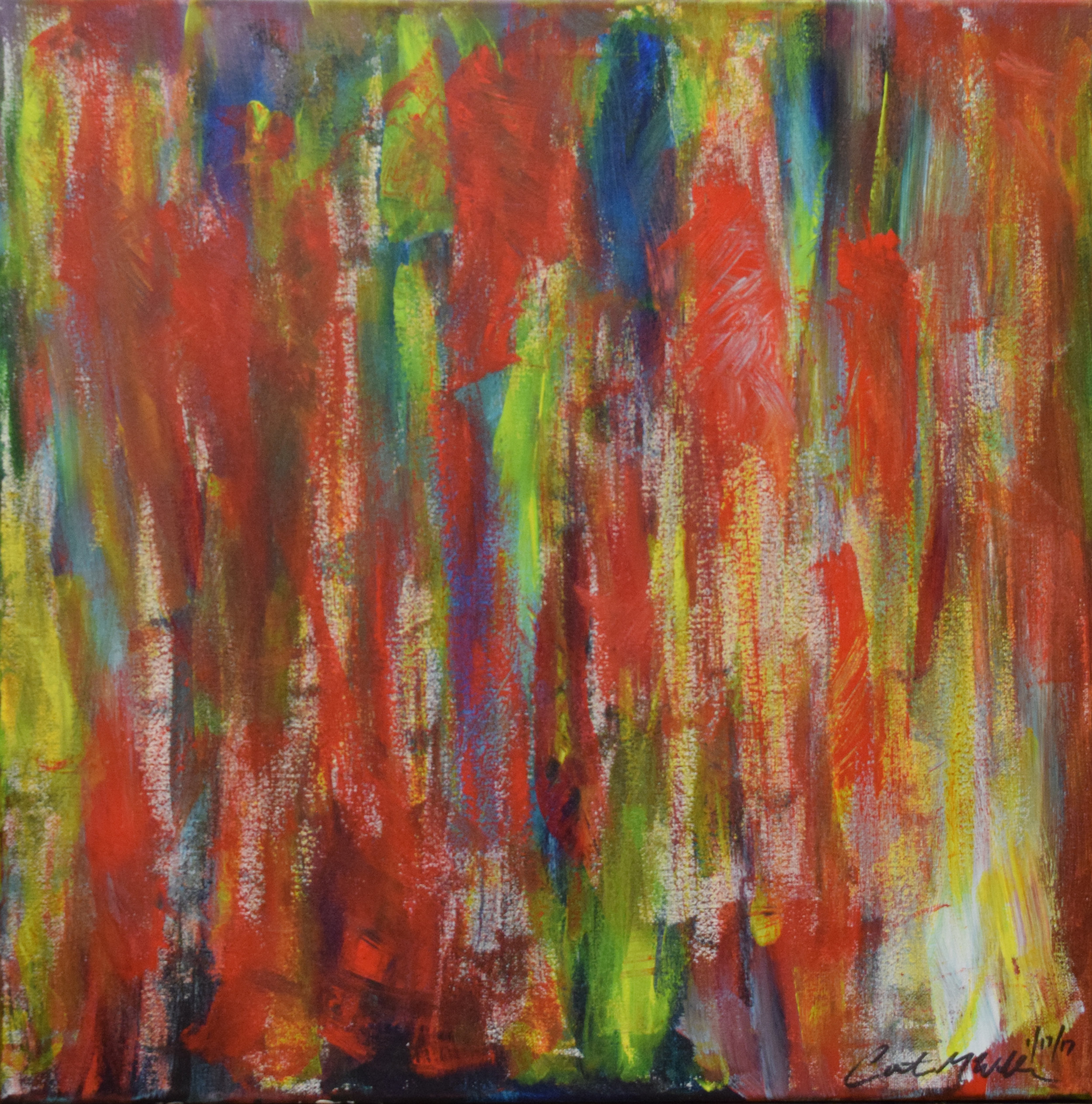 """UNTITLED"" 20X20, Acrylic on Canvas"