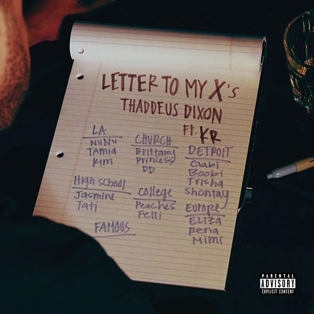 """Check out producer/musician @thaddeusdixon new single """"Letter To My X's"""". It was mixed and mastered at our studio! #producer #songwriter #music #artist #musician #studio #musicstudio #recordingstudio #rehearsalstudio #dancestudio #photogrpahystudio #la #losangeles #california #dtla #downtownla"""