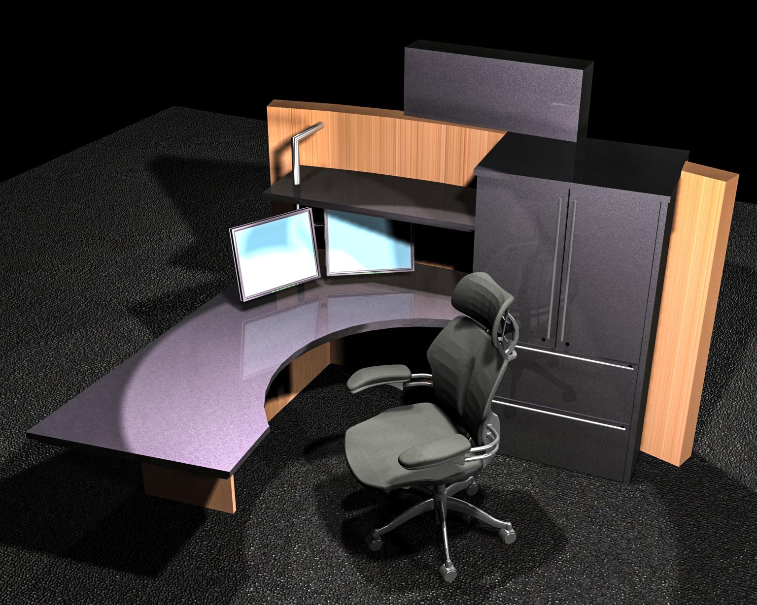 S.F. Bank: Model: Platform desk concept