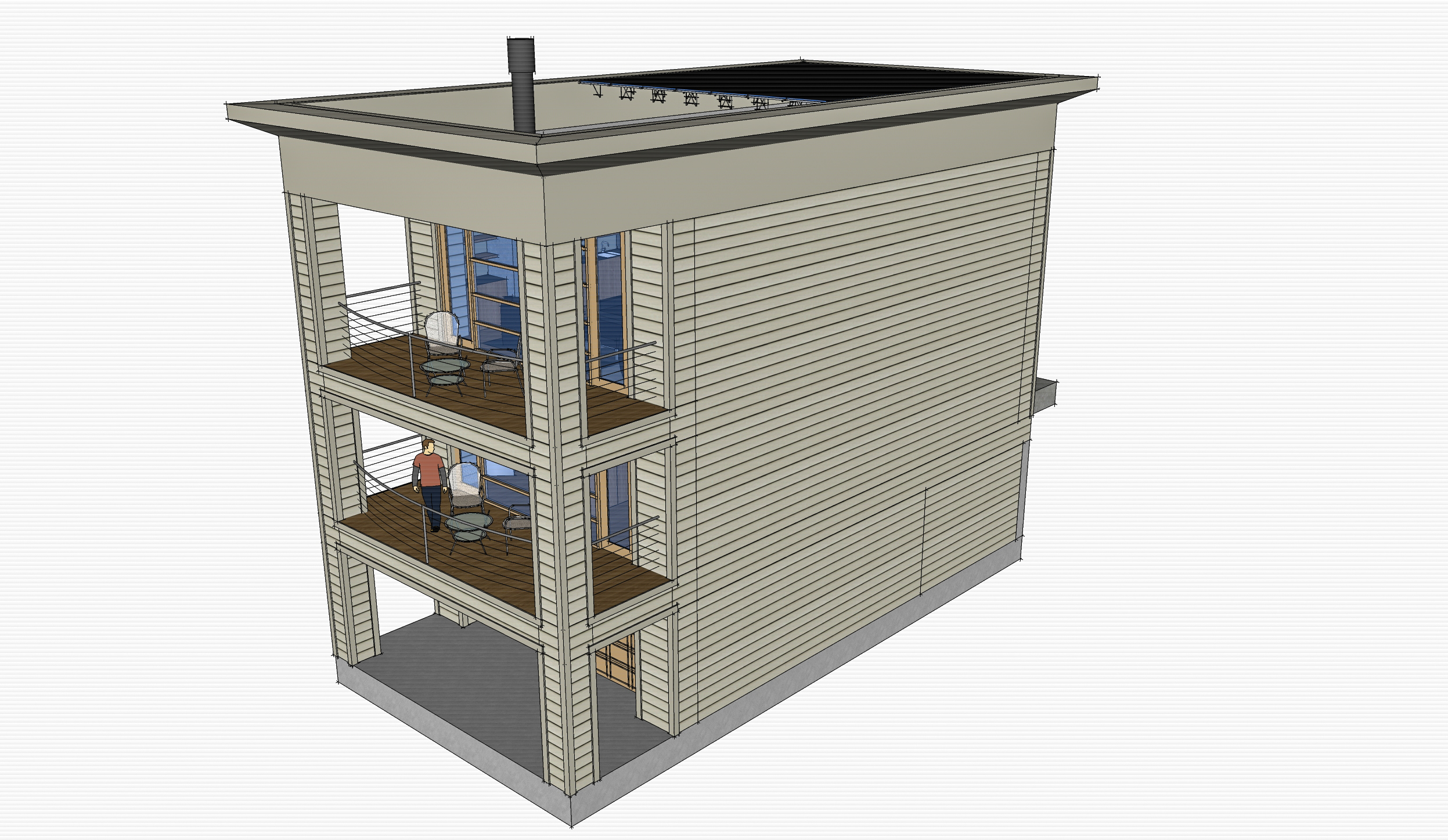 Lux Apartments: Model -- Unit concept ocean elevation