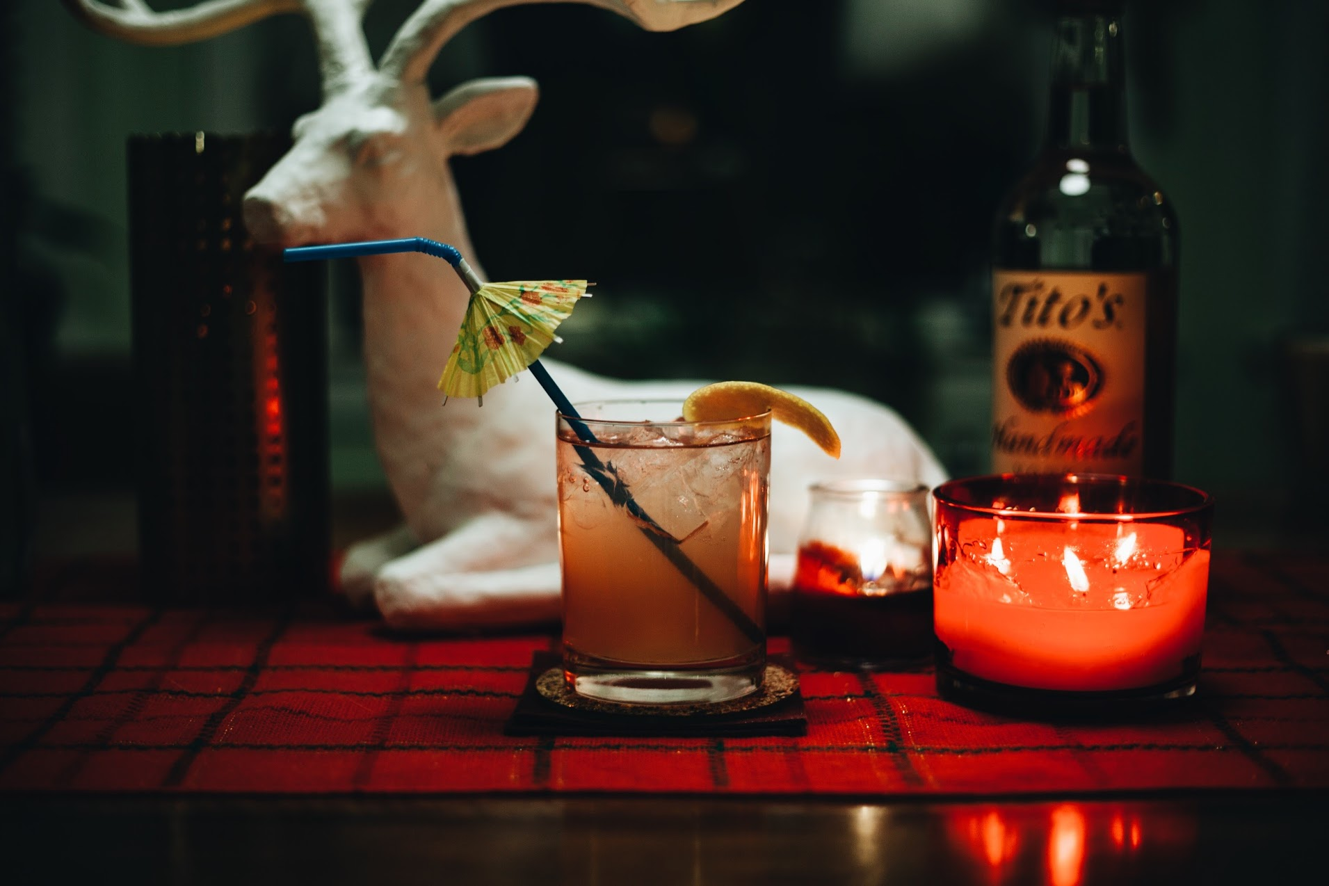 Tito's Grackle - 1 1/2 oz Tito's Handmade Vodka1/2 oz Fernet Branca2 oz fresh squeezed blood orange juice