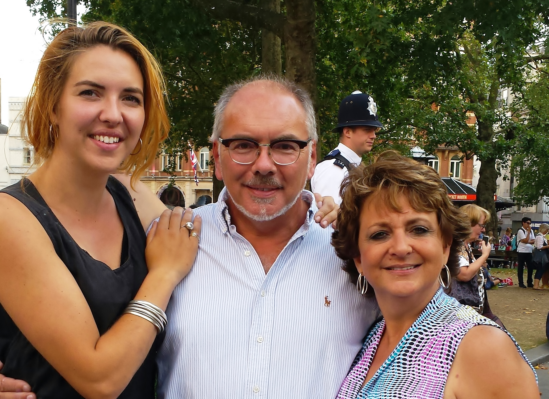 Harri, Kelly and myself in London