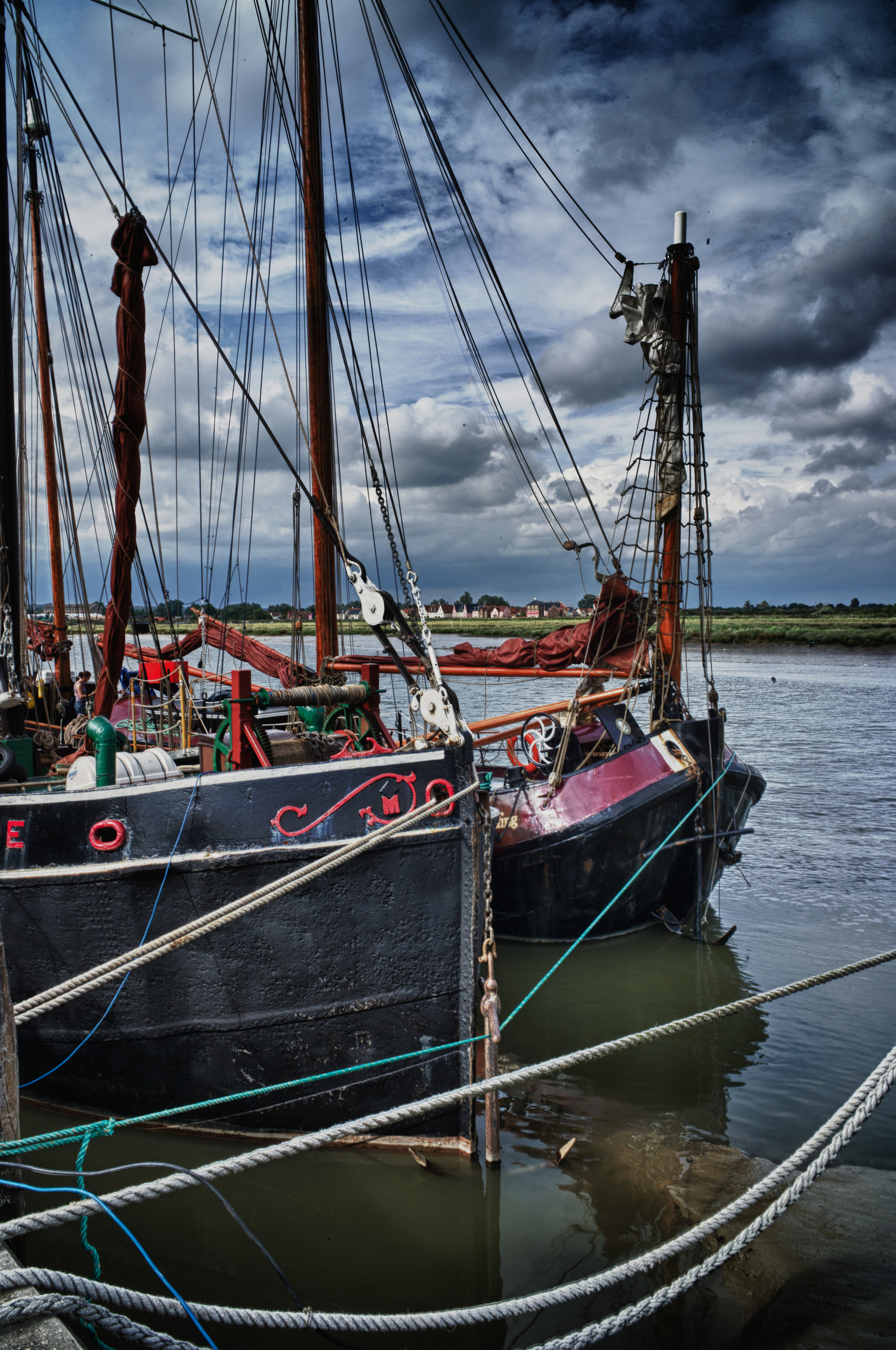 Clippers moored at Mersea Island