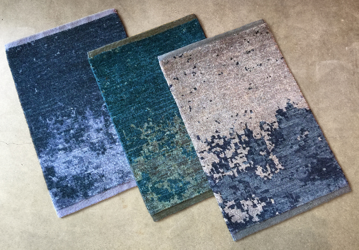 Lapchi Nebulous rug pattern samples