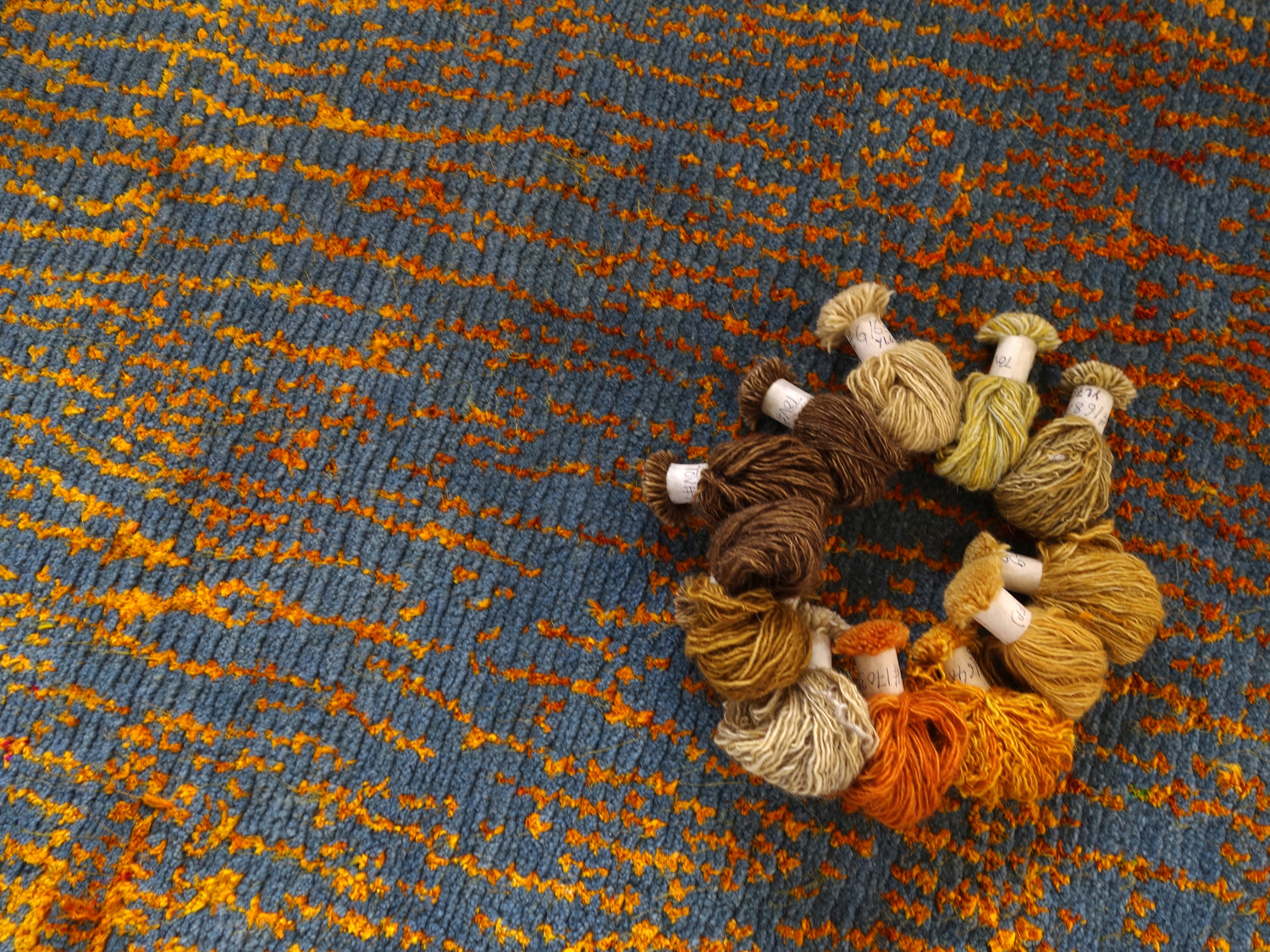 Lapchi rug and yarn samples