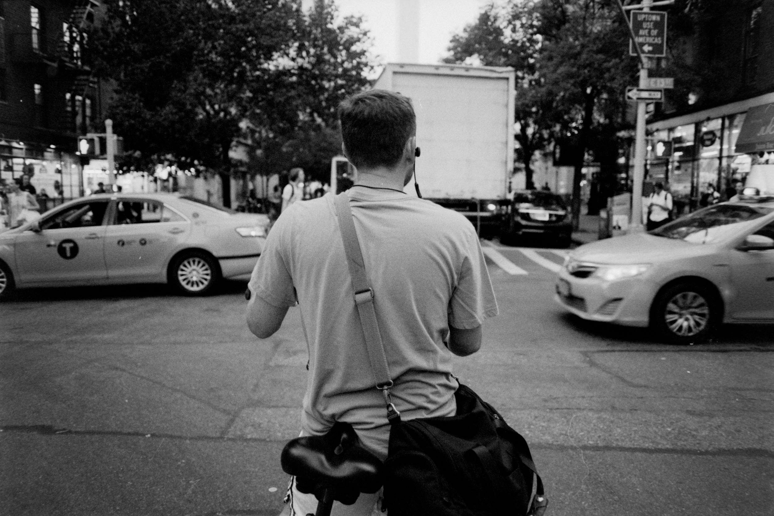 Cyclist - Illford HP5+ Pushed +2