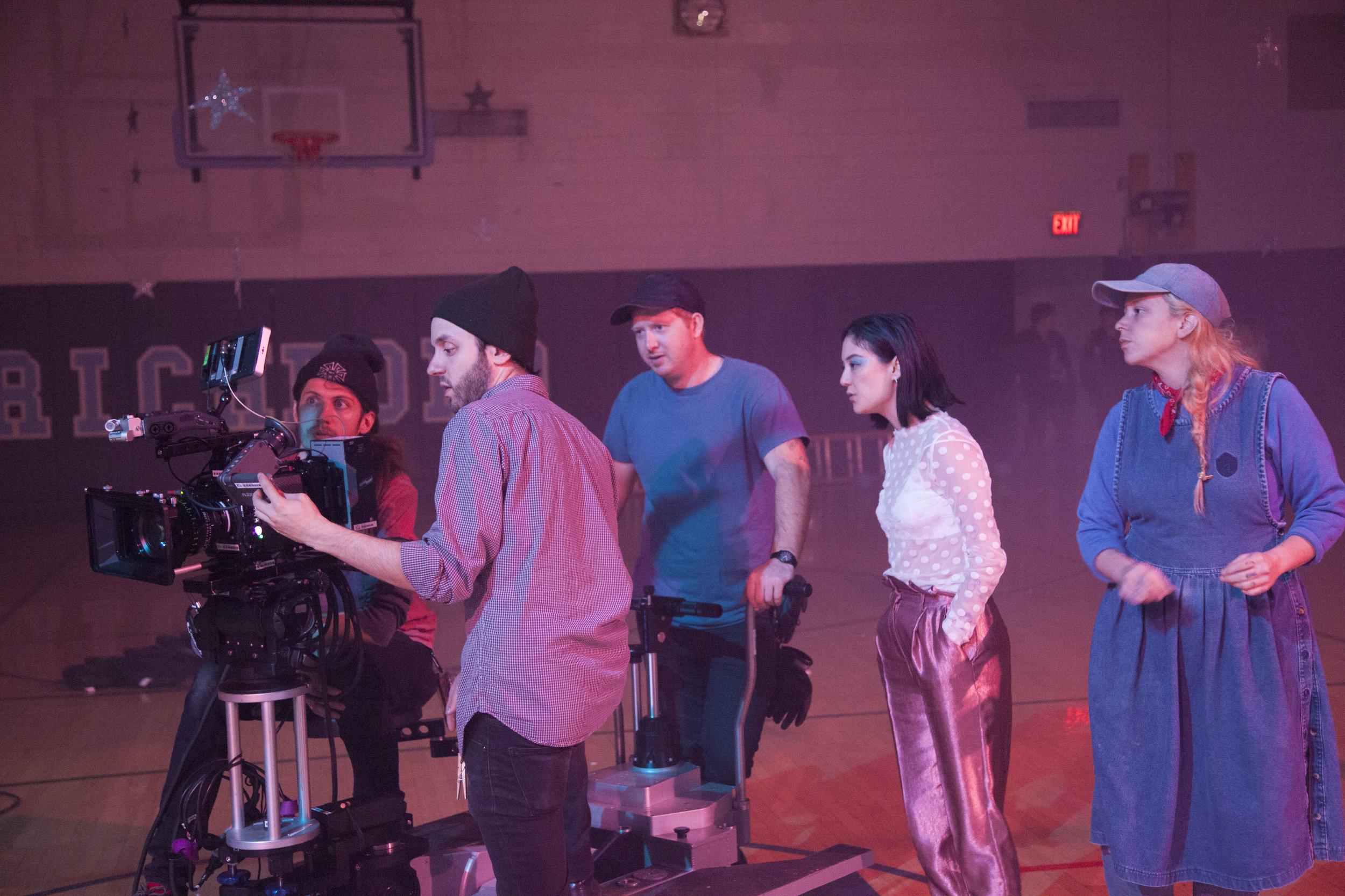 Left to Right: Logan Quarles (AC), myself, David Williamson (Gaffer), Michelle Zauner (Driector), Jarmel Reitz (Production Designer)