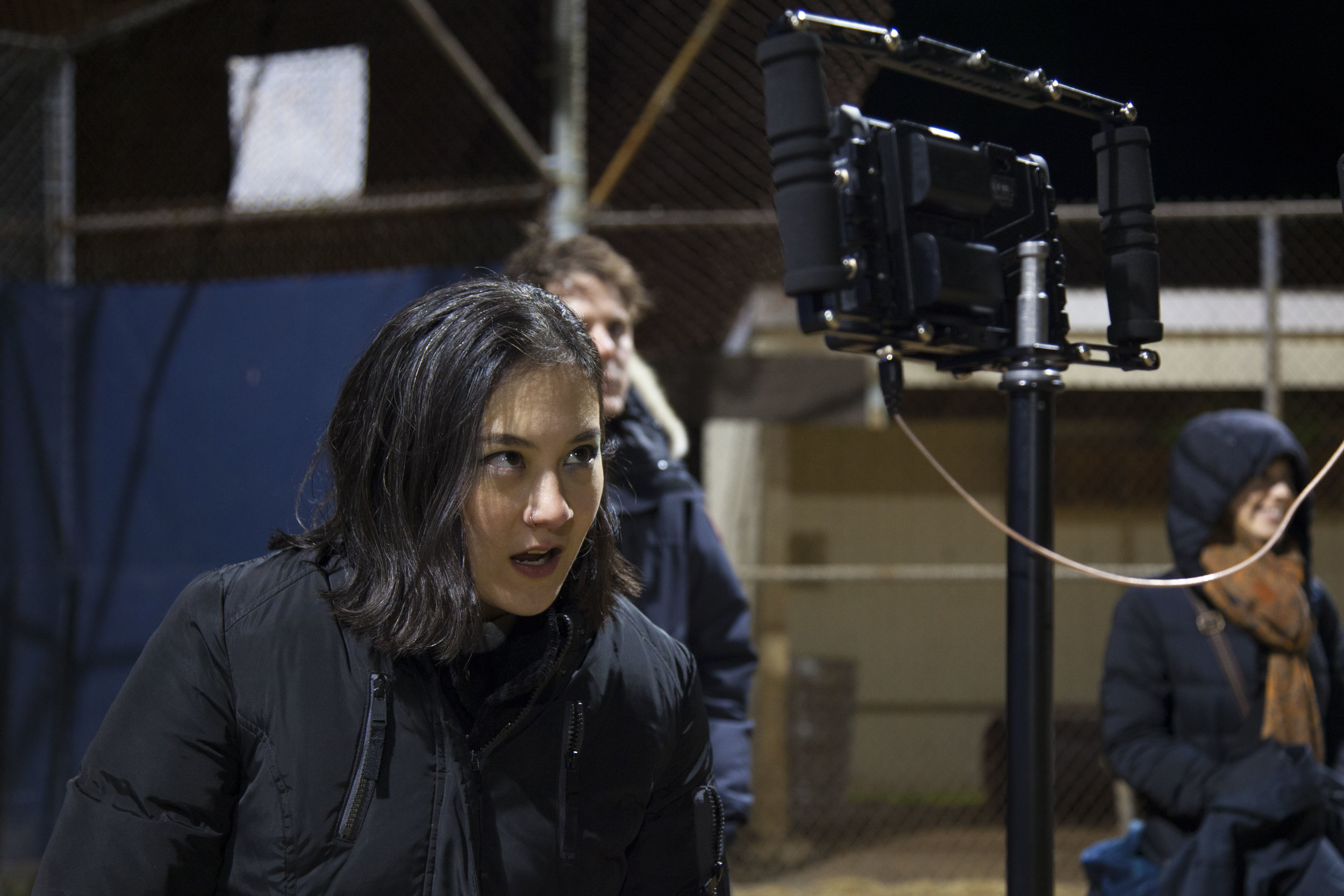 A very cold director rallying her team.