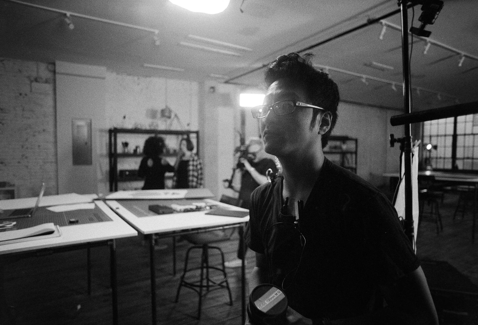 Josh (pictured) let me borrow his minolta 21mm for the next few shots.