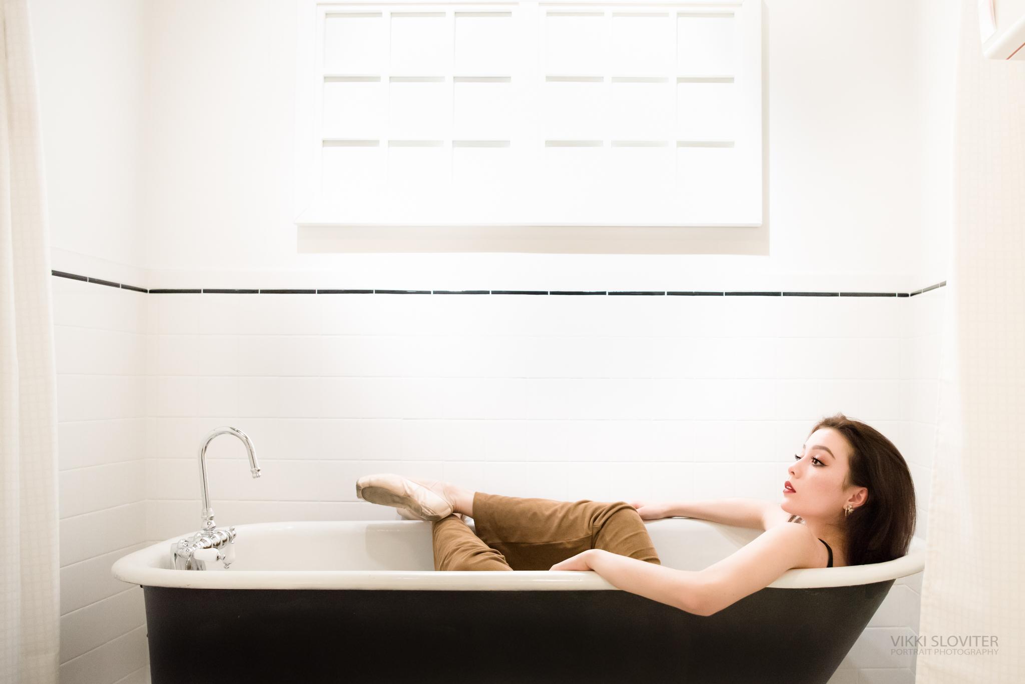 Rub-a-dub-dub, one dancer in a tub.
