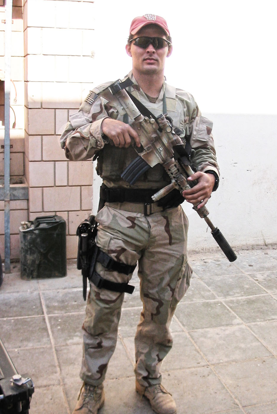 U.S. Army Staff Sergeant Aaron N. Holleyman, 27, of Glasgow, Montana, assigned to the 1st Battalion, 5th Special Forces Group, based in Fort Campbell, Kentucky, was killed on August 30, 2004, when his military vehicle hit an improvised explosive device in Khutayiah, Iraq. He is survived by his daughters Shelby and Erin, son Zachary, parents Ross and Glenda, and siblings Kelly and Daniel