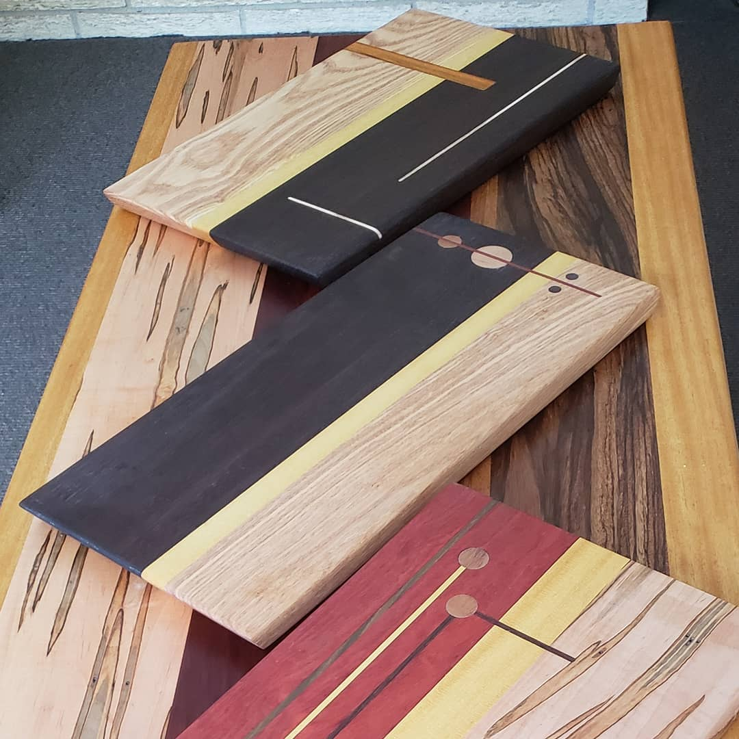 Three serving boards