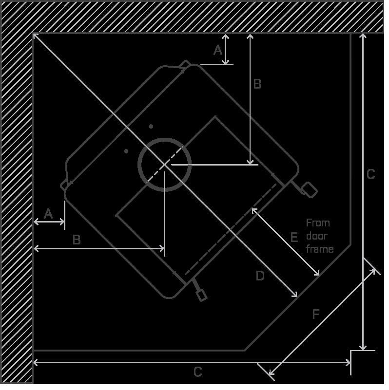 Corner Install Diagram