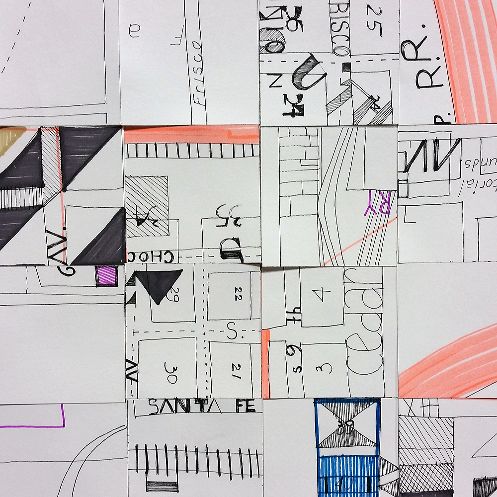 Design Sketch for Just Around the Corner (detail view, rearranged)