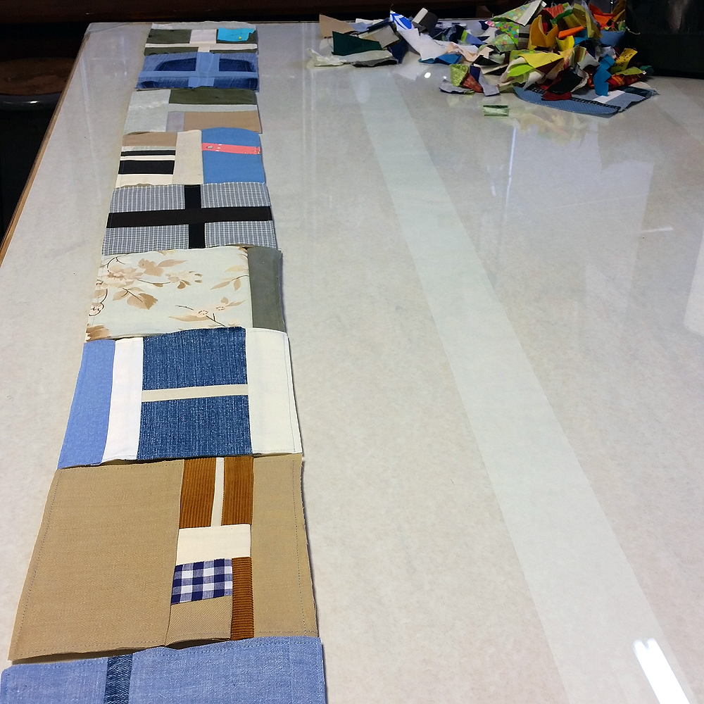 Quilt blocks in progress